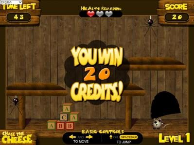 BetOnline featuring the Video Slots Chase the Cheese with a maximum payout of $7,500