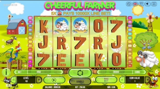 14 Red Casino featuring the Video Slots Cheerful Farmer with a maximum payout of $100,000