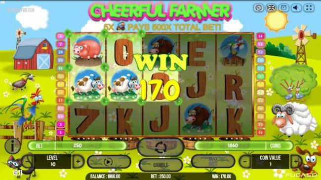 Play slots at Magik Slots: Magik Slots featuring the Video Slots Cheerful Farmer with a maximum payout of $100,000