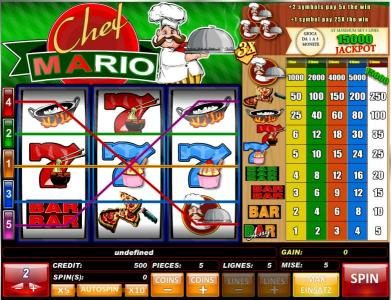 Play slots at Rose Slots: Rose Slots featuring the Video Slots Chef Mario with a maximum payout of $30,000