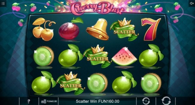Melbet featuring the Video Slots Cherry Blast with a maximum payout of $4,000