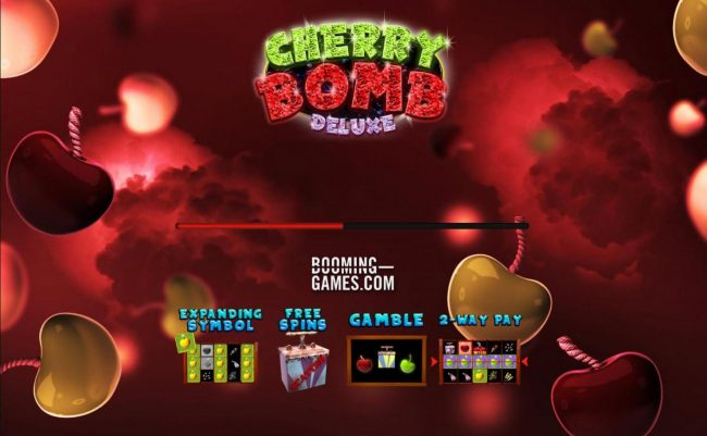 Cherry Bomb Deluxe :: Game features include: Expanding Symbols, Free Spins, Gamble Feature and 2-Way Pay.