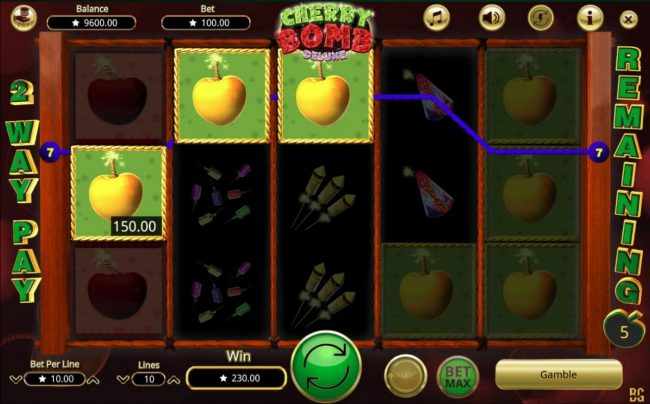 Betchan featuring the Video Slots Cherry Bomb Deluxe with a maximum payout of $200,000