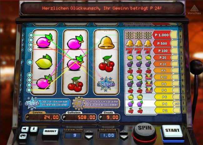 Roxy Palace featuring the Video Slots Cherry Star with a maximum payout of $1,000