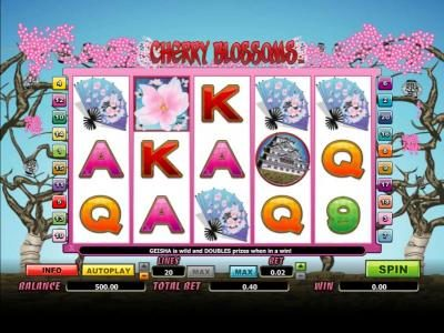 Play slots at Next Casino: Next Casino featuring the Video Slots Cherry Blossoms with a maximum payout of 12500x