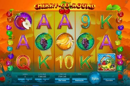 Monaco Aces featuring the video-Slots Cherry-Go-Round with a maximum payout of $500