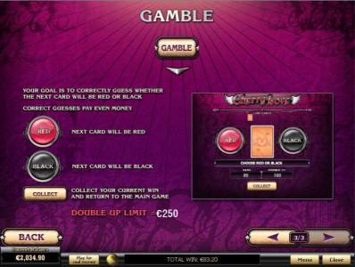 Omni featuring the Video Slots Cherry Love with a maximum payout of $200,000