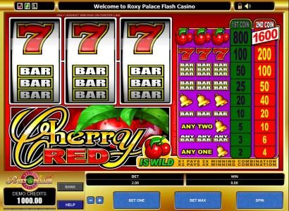 Play slots at All Jackpots: All Jackpots featuring the Video Slots Cherry Red with a maximum payout of $16,000