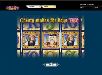 Chests of Plenty slot game chesty wild makes the boys wild