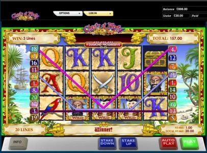 Chests of Plenty slot game 157 coin jackpot win