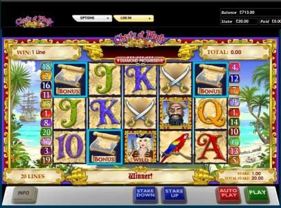 Slots Heaven featuring the Video Slots Chests of Plenty with a maximum payout of $20,000