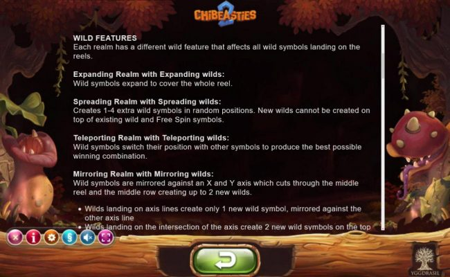 Wild features and rules.
