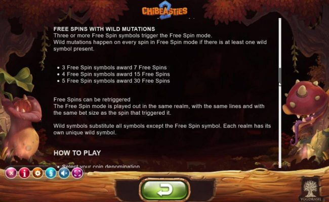 Chibeasties 2 :: Free Spins Rules