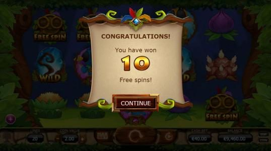 Chibeasties :: 10 free spins have beeen awarded