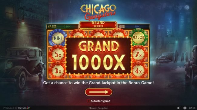 Play slots at Slotman: Slotman featuring the Video Slots Chicago Gangsters with a maximum payout of $15,000