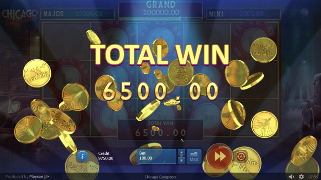 Play slots at Unique Casino: Unique Casino featuring the Video Slots Chicago Gangsters with a maximum payout of $15,000