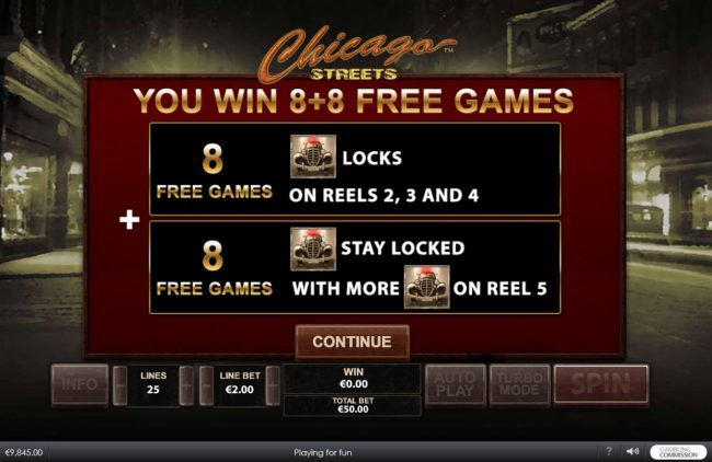 Chicago Streets :: 8 Free Spins Awarded