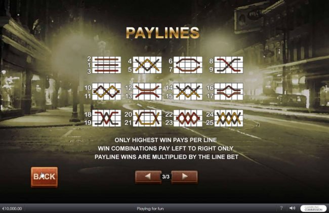 Carnival featuring the Video Slots Chicago Streets with a maximum payout of $500,000