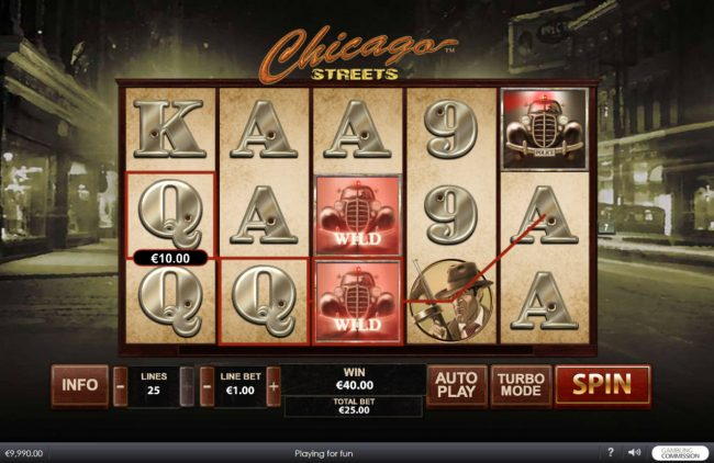 Betfair featuring the Video Slots Chicago Streets with a maximum payout of $500,000