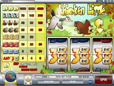 Desert Nights Rival featuring the Video Slots Chicken Little with a maximum payout of $120,000