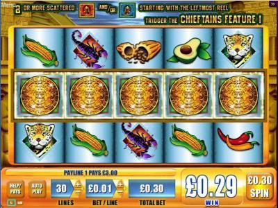 NetBet featuring the Video Slots Chieftains with a maximum payout of $5,000