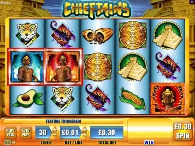 Slots Magic featuring the Video Slots Chieftains with a maximum payout of $5,000