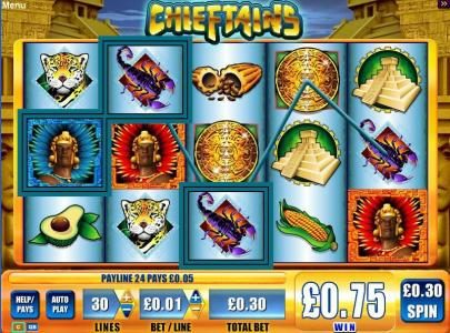 Casino Red Kings featuring the Video Slots Chieftains with a maximum payout of $5,000