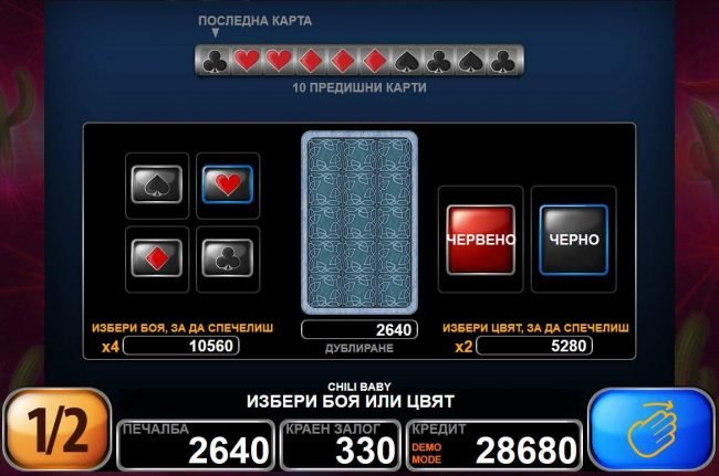 Orientxpress featuring the Video Slots Chili Baby with a maximum payout of $45,000
