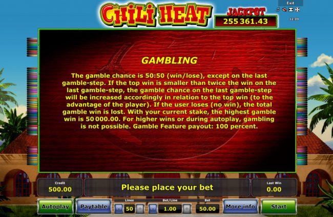 Chili Heat :: Gamble Feature Rules