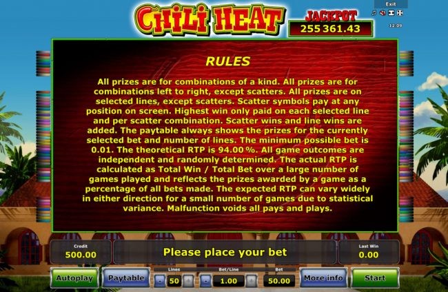 Chili Heat :: General Game Rules