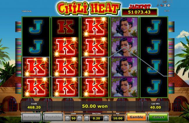 Chili Heat :: King symbols combine for a winning combination