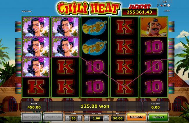 Chili Heat :: Multiple winning paylines