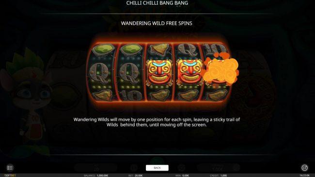 Rose Slots featuring the Video Slots Chilli Chilli Bang Bang with a maximum payout of $4,000