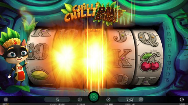 Casdep featuring the Video Slots Chilli Chilli Bang Bang with a maximum payout of $4,000