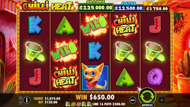 Chilli Heat :: A winning five of a kind