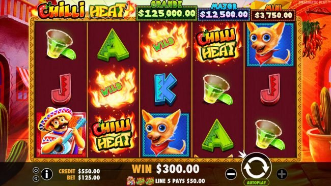 Spiral featuring the Video Slots Chilli Heat with a maximum payout of Jackpot
