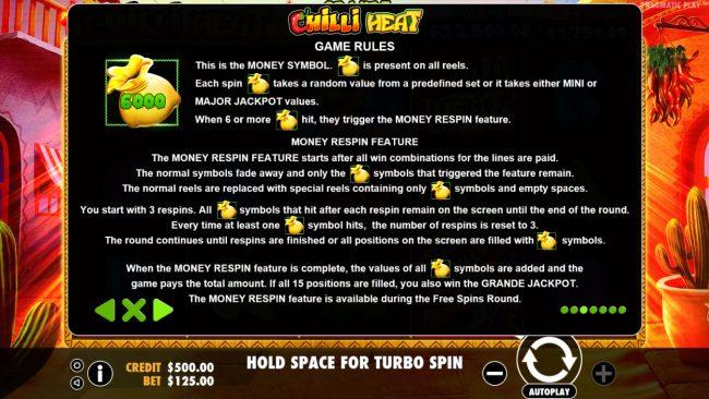 Chilli Heat :: Bonus Game Rules