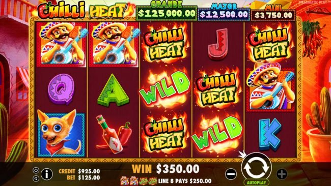 Mayflower featuring the Video Slots Chilli Heat with a maximum payout of Jackpot