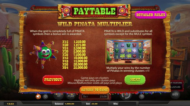 MyBcasino featuring the Video Slots Chilli Pop with a maximum payout of $25,000