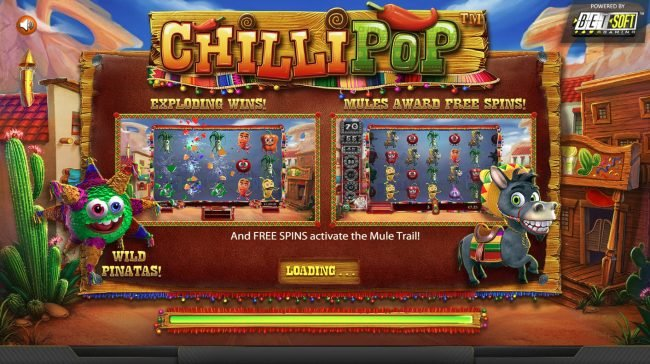 Play slots at Black Diamond: Black Diamond featuring the Video Slots Chilli Pop with a maximum payout of $25,000