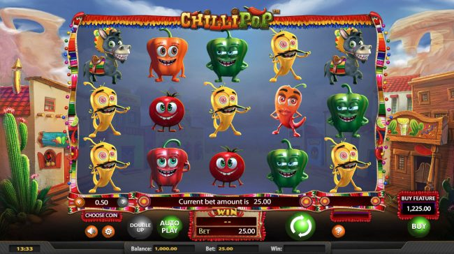Wizbet featuring the Video Slots Chilli Pop with a maximum payout of $25,000