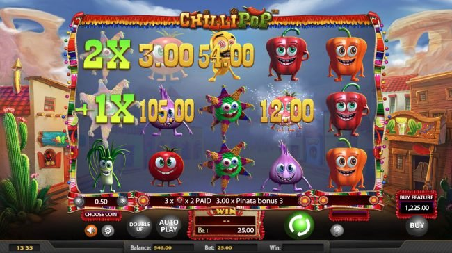 Rich featuring the Video Slots Chilli Pop with a maximum payout of $25,000