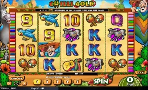 Play slots at Casino Superlines: Casino Superlines featuring the Video Slots Chilli Gold with a maximum payout of $25,000