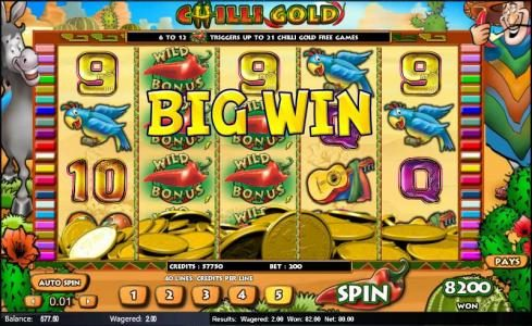Play Club Casino featuring the Video Slots Chilli Gold with a maximum payout of $25,000