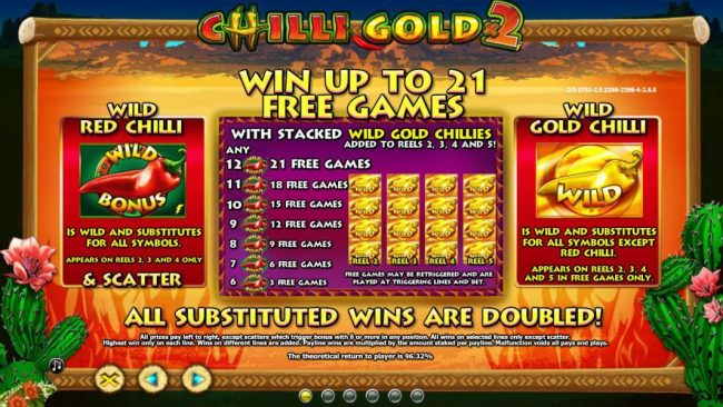Triple Aces featuring the Video Slots Chilli Gold x2 with a maximum payout of $10,000