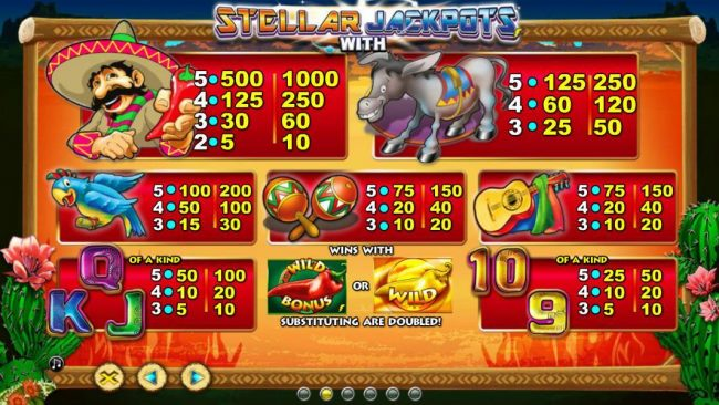 Deuce Club featuring the Video Slots Chilli Gold x2 with a maximum payout of $10,000