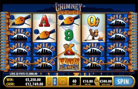 Chimney Stacks :: multiple winning payliens triggers big win