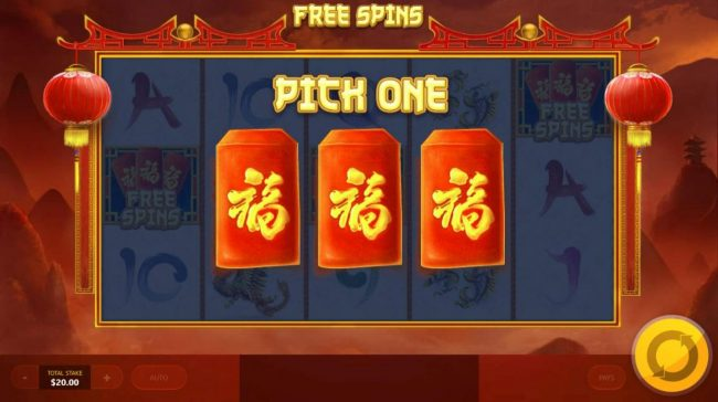 Chinese Treasures :: Select an envelope to reveal the number of free games to be played.