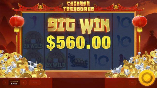 Chinese Treasures :: A 560.00 Big Win!