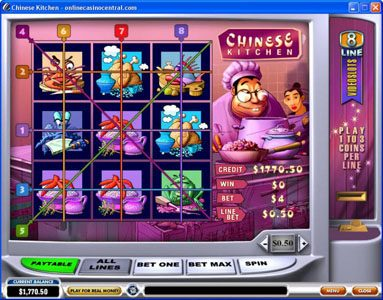 Play slots at Grand Reef: Grand Reef featuring the Video Slots Chinese Kitchen with a maximum payout of $60,000